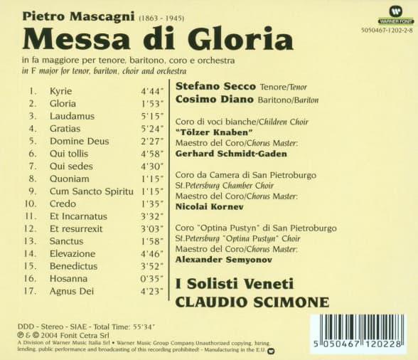 Optina Pustyn male choir. PIETRO MASCAGNI. MESSA DI GLORIA